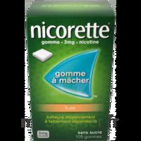 NICORETTE 2 mg Gom à mâcher médic sans sucre fruits Plq/30 à Libourne