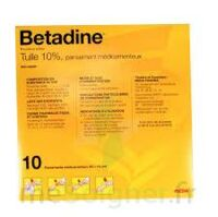 BETADINE TULLE 10 POUR CENT, pansement médicamenteux à Libourne